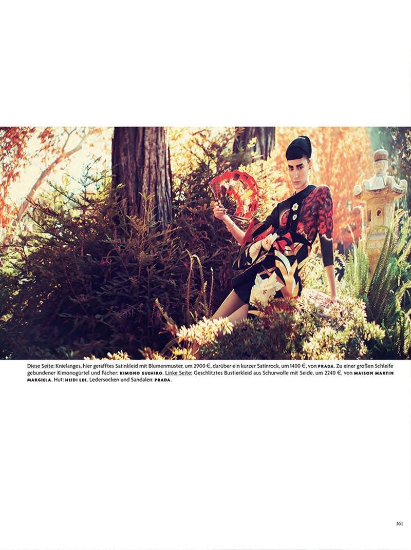 FranziGeisha5 Franzi Mueller is Geisha Glam for Vogue Germany February 2013 by Sebastian Kim