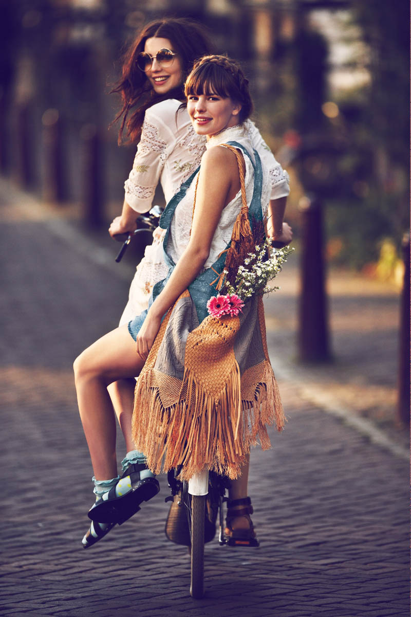 FreeJanuary4 Free People Features Girls on Bikes for its January 2013 Catalogue