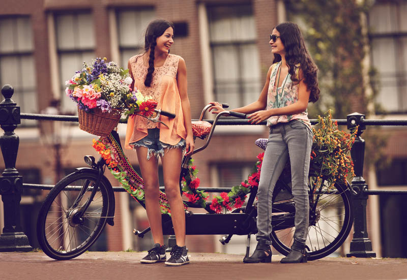 FreeJanuary9 Free People Features Girls on Bikes for its January 2013 Catalogue