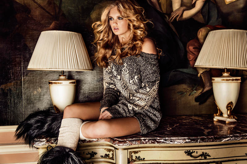 Romee Strijd is Chateau Chic for Goldbergh's Fall 2013 Campaign