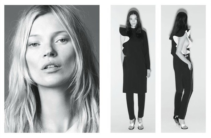 GivenchySpring1 Kate Moss Joins Mariacarla Boscono and Marina Abramovic for Givenchys Spring 2013 Campaign
