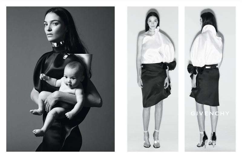 GivenchySpring2 Kate Moss Joins Mariacarla Boscono and Marina Abramovic for Givenchys Spring 2013 Campaign