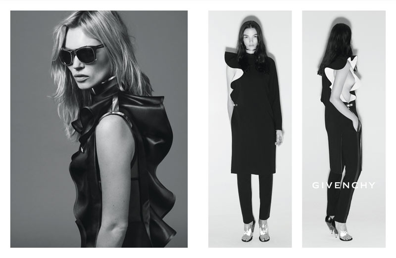 GivenchySpring4 Kate Moss Joins Mariacarla Boscono and Marina Abramovic for Givenchys Spring 2013 Campaign