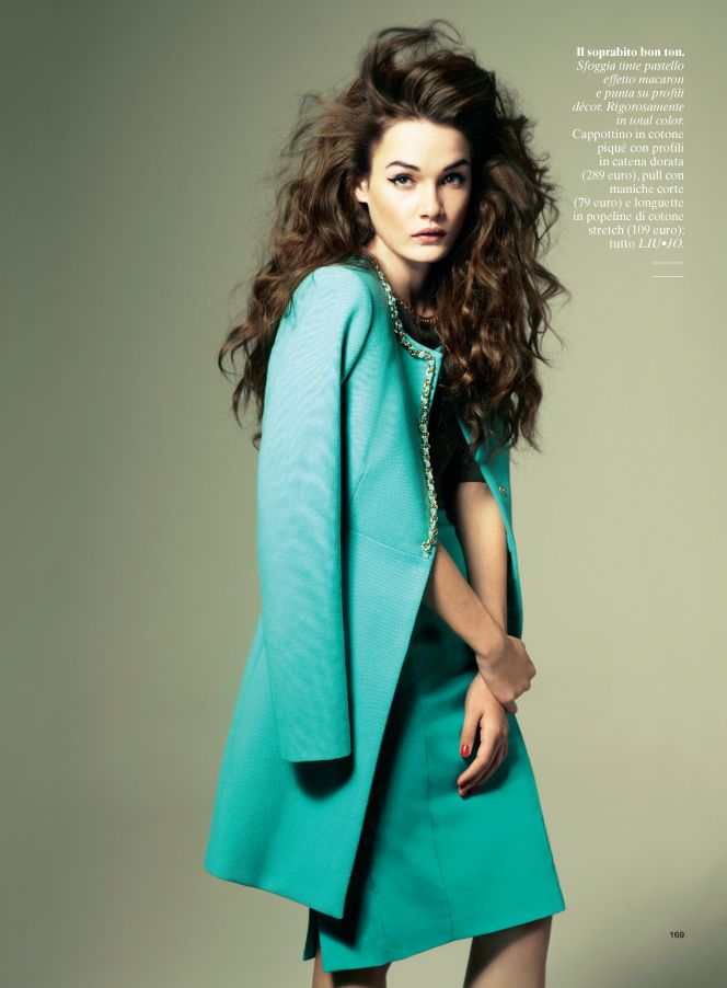 GlamourIT6 Jes Models Springs Key Pieces for Glamour Italy February 2013