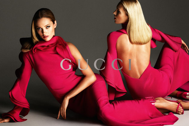 GucciCampaign1 Guccis Spring 2013 Campaign Stars Anja Rubik and Karmen Pedaru by Mert & Marcus