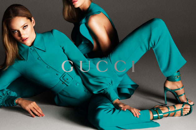 GucciCampaign12 Guccis Spring 2013 Campaign Stars Anja Rubik and Karmen Pedaru by Mert & Marcus