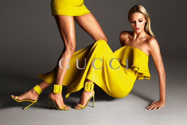 GucciCampaign13 Guccis Spring 2013 Campaign Stars Anja Rubik and Karmen Pedaru by Mert & Marcus
