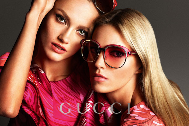 GucciCampaign16 Guccis Spring 2013 Campaign Stars Anja Rubik and Karmen Pedaru by Mert & Marcus