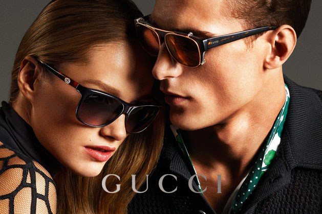 GucciCampaign18 Guccis Spring 2013 Campaign Stars Anja Rubik and Karmen Pedaru by Mert & Marcus