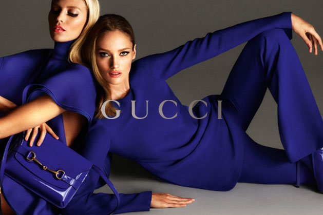 GucciCampaign2 Guccis Spring 2013 Campaign Stars Anja Rubik and Karmen Pedaru by Mert & Marcus