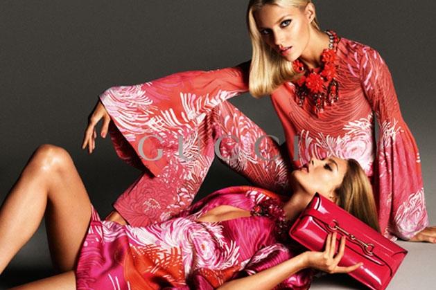GucciCampaign3 Guccis Spring 2013 Campaign Stars Anja Rubik and Karmen Pedaru by Mert & Marcus
