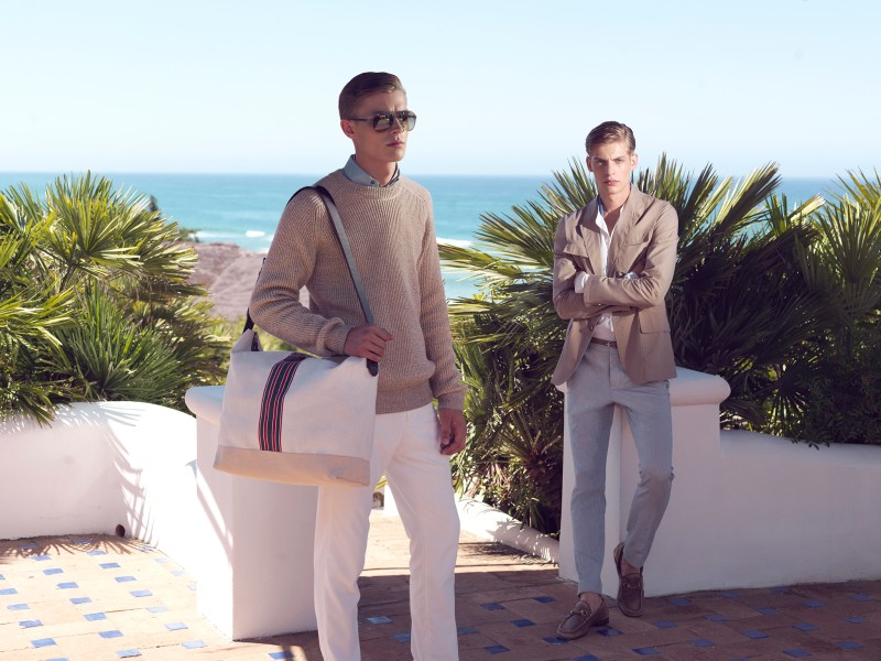 GucciCruise4 Karmen Pedaru and Nadja Bender Pose for Gucci Style Cruise 2013 by Benjamin Grillon