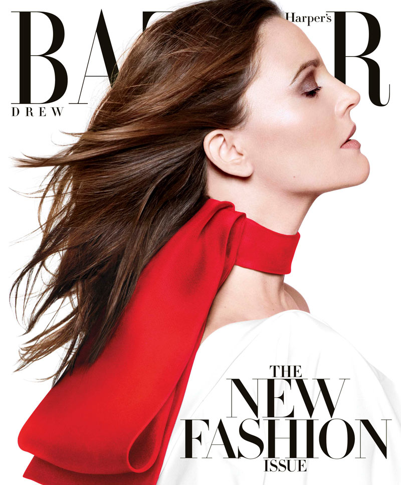 Drew Barrymore Dons Louis Vuitton for Harper's Bazaar US March 2013 Cover