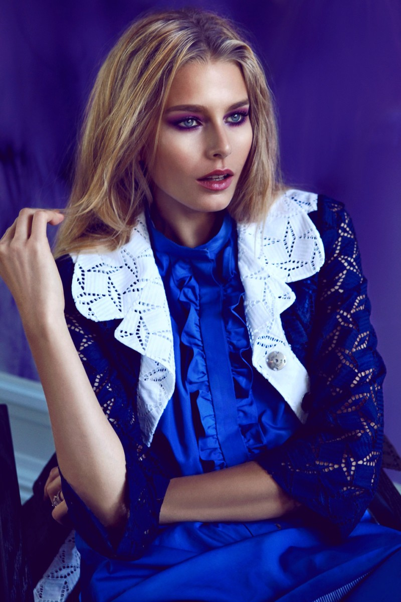 HanaElle8 Hana Soukupova Sports Louis Vuitton for the January Cover Shoot of Elle Czech by Branislav Simoncik