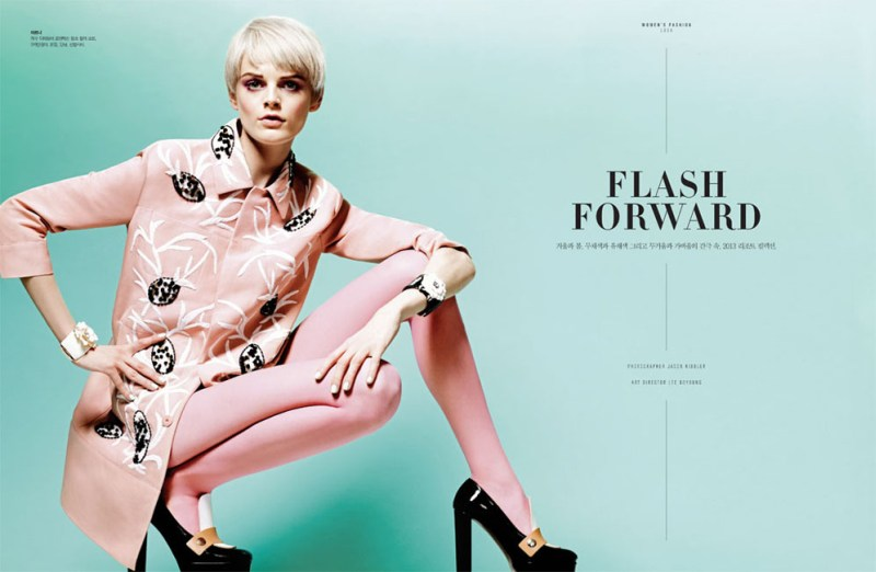 HanneShoot1 Hanne Gaby Odiele Sports Sixties Chic for S Magazine