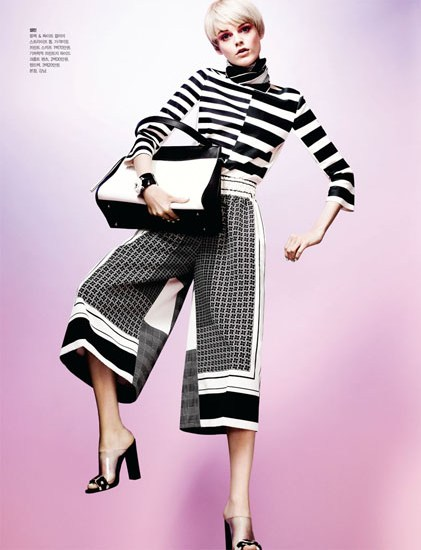 HanneShoot2 Hanne Gaby Odiele Sports Sixties Chic for S Magazine