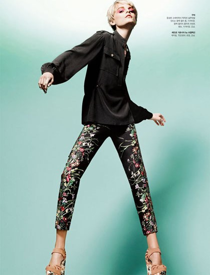 HanneShoot3 Hanne Gaby Odiele Sports Sixties Chic for S Magazine