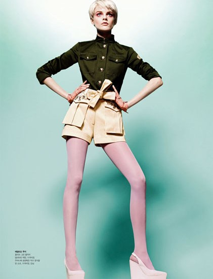 HanneShoot8 Hanne Gaby Odiele Sports Sixties Chic for S Magazine