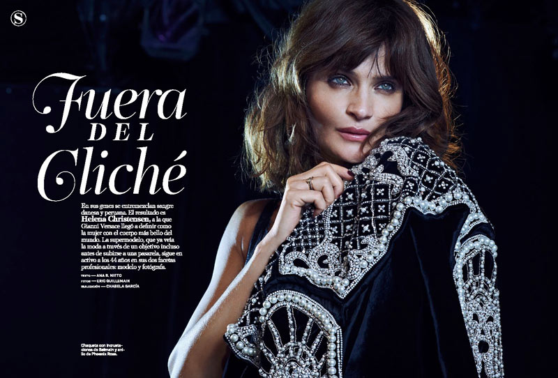 HelenaSModa1 Helena Christensen Smolders in S Moda Cover Shoot by Eric Guillemain