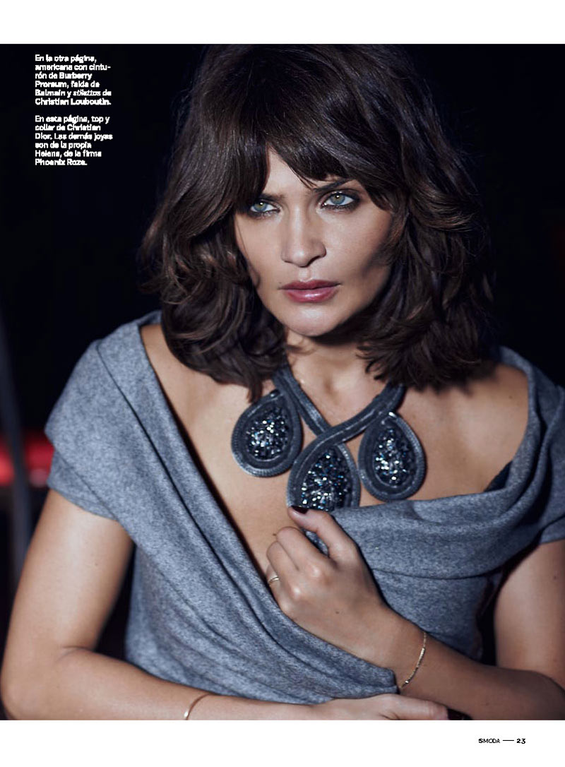 HelenaSModa3 Helena Christensen Smolders in S Moda Cover Shoot by Eric Guillemain