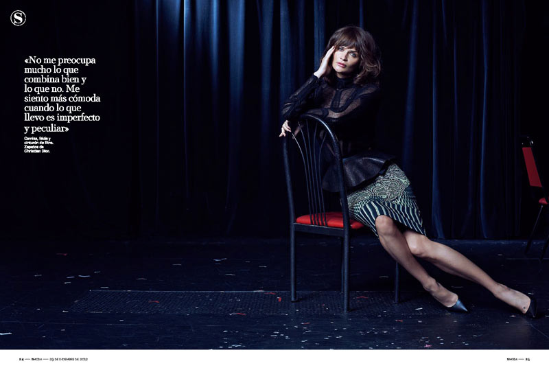 HelenaSModa4 Helena Christensen Smolders in S Moda Cover Shoot by Eric Guillemain