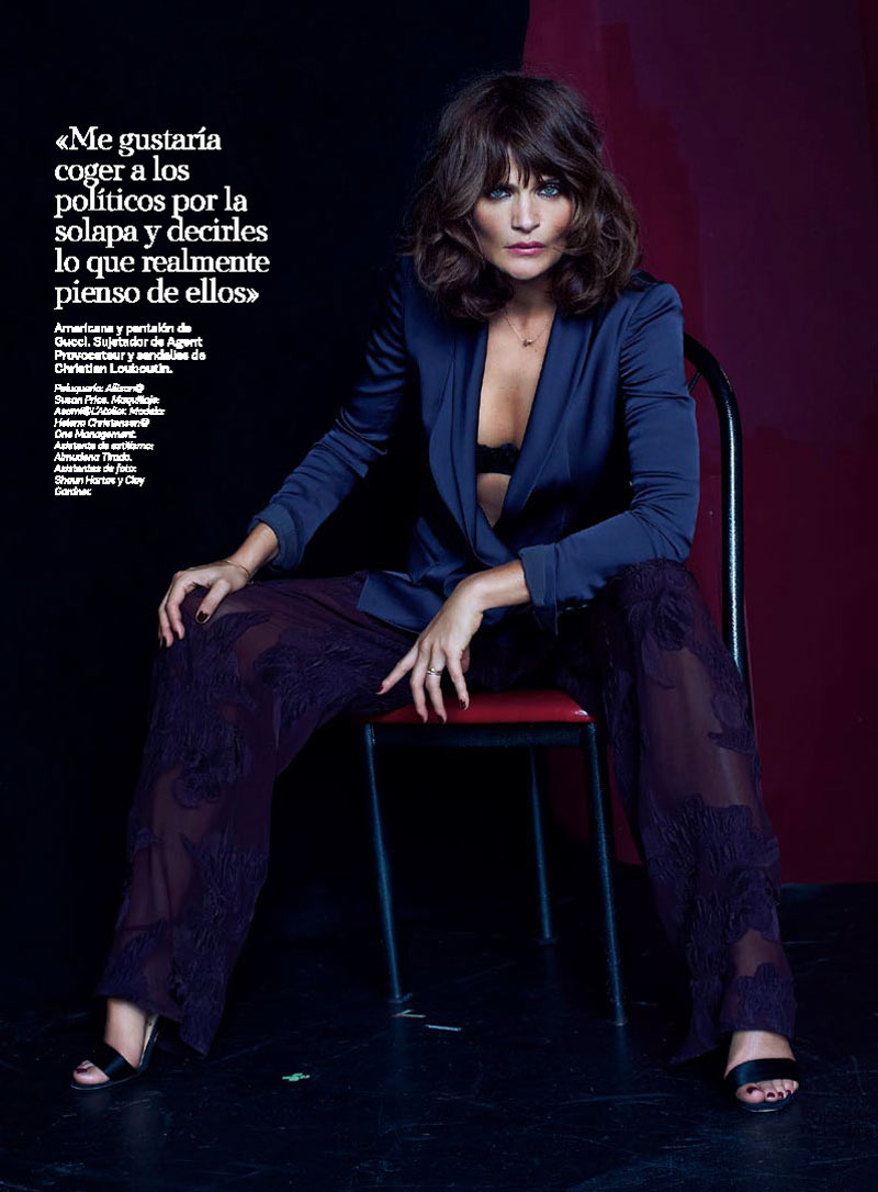 HelenaSModa6 Helena Christensen Smolders in S Moda Cover Shoot by Eric Guillemain