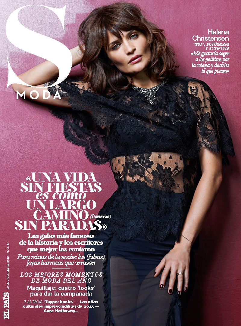 HelenaSModa7 Helena Christensen Smolders in S Moda Cover Shoot by Eric Guillemain