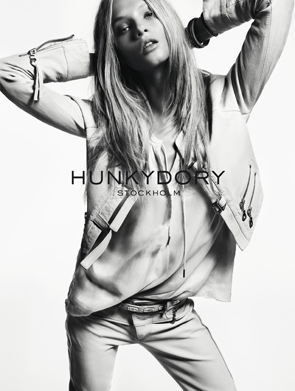 HunkyDoreySS1 Anna Selezneva Gets Relaxed for Hunkydory Spring 2013 Campaign by Marcus Ohlsson