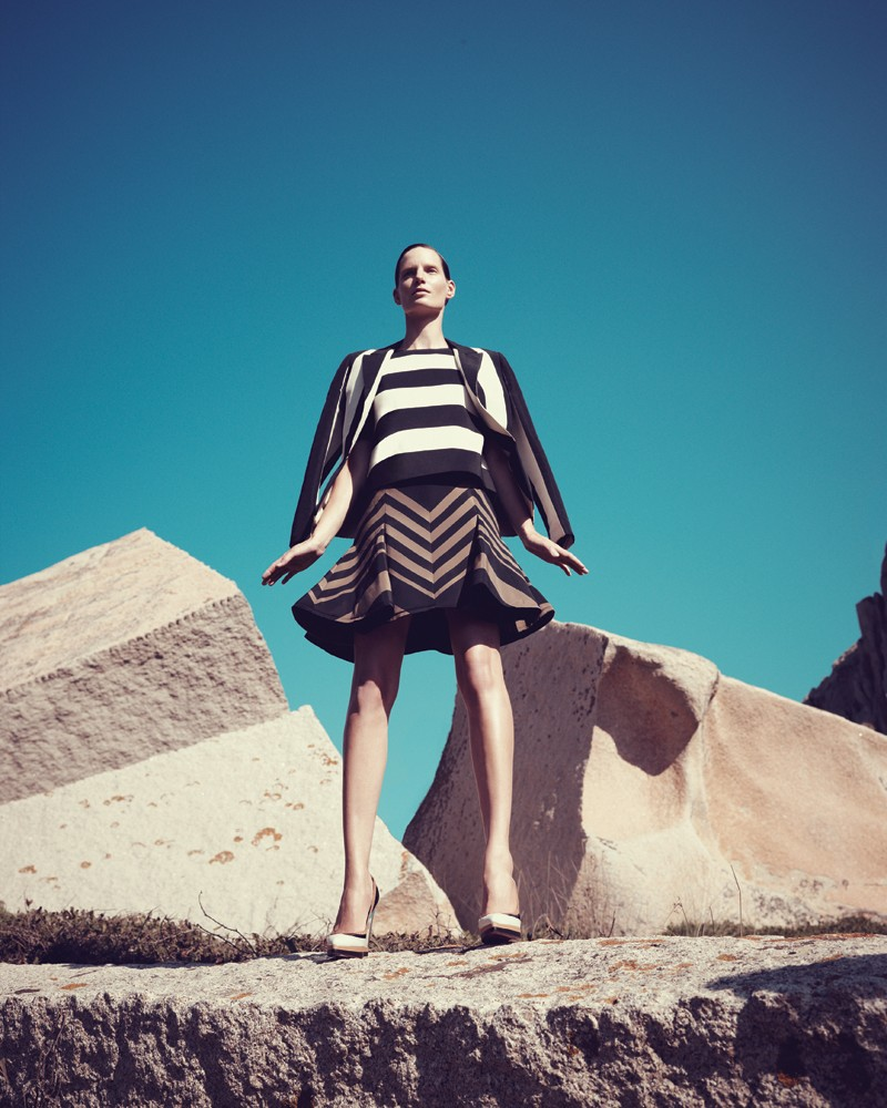 IrisBergdorf22 Iris Strubegger Dons the Resort 2013 Collections for Bergdorf Goodman by Sofia & Mauro