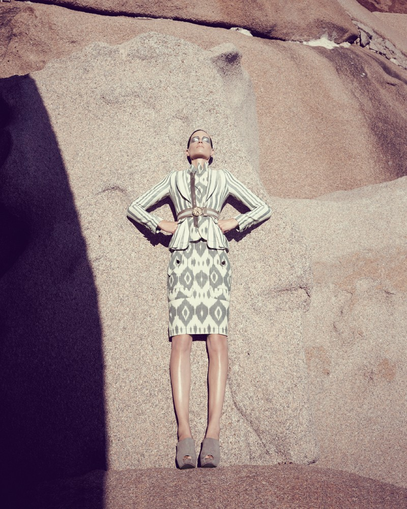 IrisBergdorf9 Iris Strubegger Dons the Resort 2013 Collections for Bergdorf Goodman by Sofia & Mauro