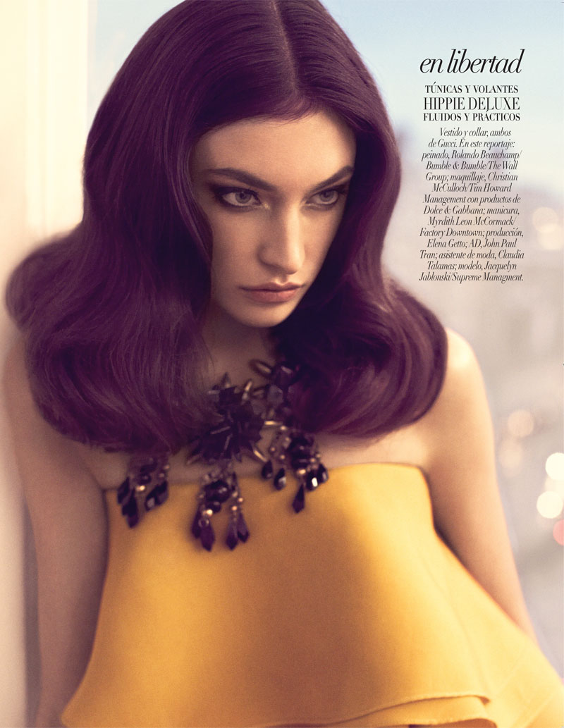 JacquelynVogueLA5 Jacquelyn Jablonski is 70s Chic in Gucci for Vogue Latin Americas January 2013 Cover Shoot