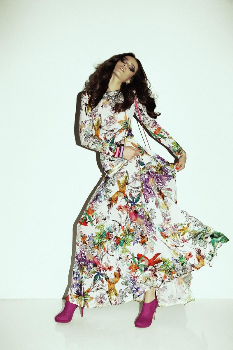 Jenna Earle Wears Glam Looks for Fashion Magazine February 2013 by Richard Bernardin