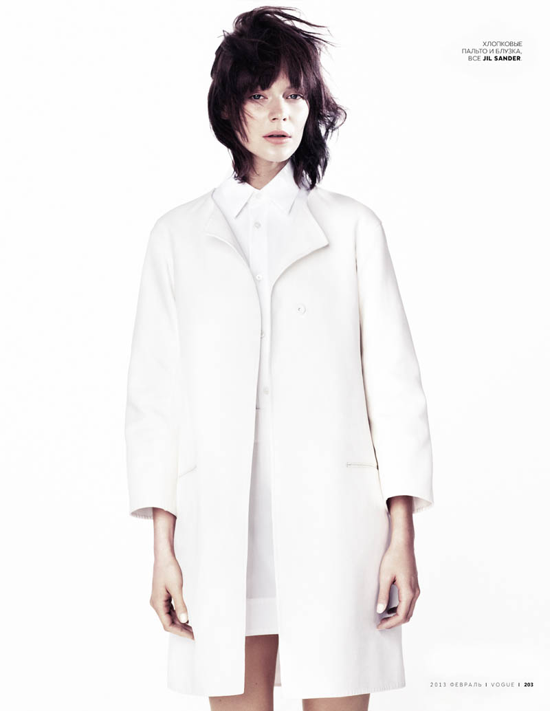 JilSanderVogue2 Kinga Rajzak Sports Jil Sander for Vogue Russia February 2013 by Emma Tempest