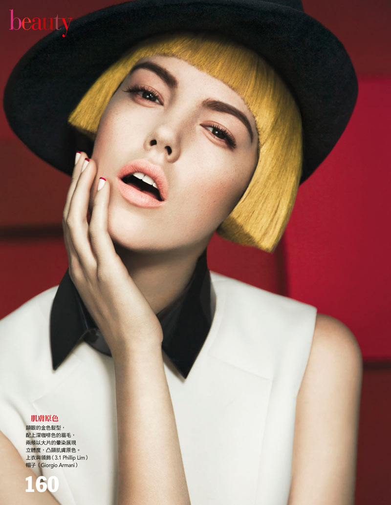 JosefienBeauty2 Josefien Rodermans Poses for Yossi Michaeli in Vogue Taiwan January 2013