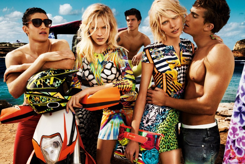 JustCavalliSpring1 Aline Weber, Ginta Lapina and Emily DiDonato Star in Just Cavalli Spring 2013 Campaign