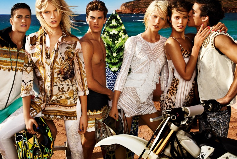 JustCavalliSpring10 Aline Weber, Ginta Lapina and Emily DiDonato Star in Just Cavalli Spring 2013 Campaign