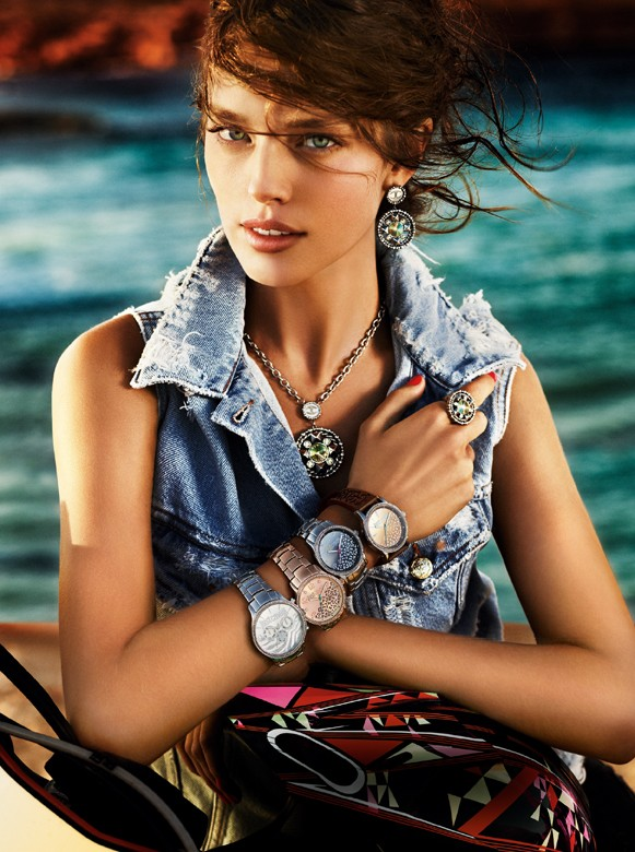 JustCavalliSpring3 Aline Weber, Ginta Lapina and Emily DiDonato Star in Just Cavalli Spring 2013 Campaign