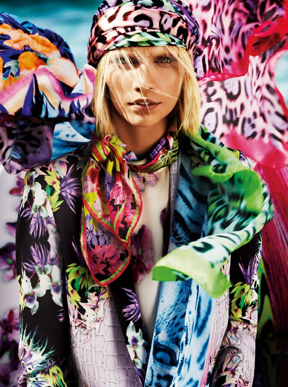 JustCavalliSpring4 Aline Weber, Ginta Lapina and Emily DiDonato Star in Just Cavalli Spring 2013 Campaign