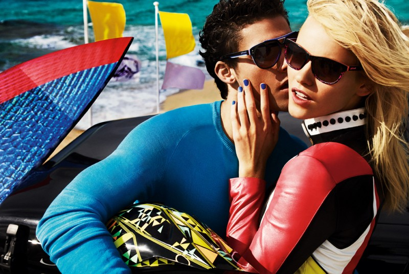 JustCavalliSpring6 Aline Weber, Ginta Lapina and Emily DiDonato Star in Just Cavalli Spring 2013 Campaign