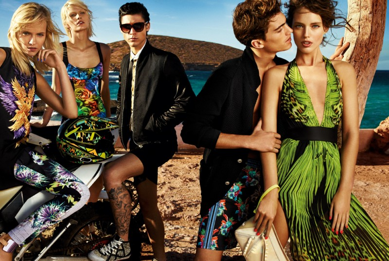 JustCavalliSpring7 Aline Weber, Ginta Lapina and Emily DiDonato Star in Just Cavalli Spring 2013 Campaign