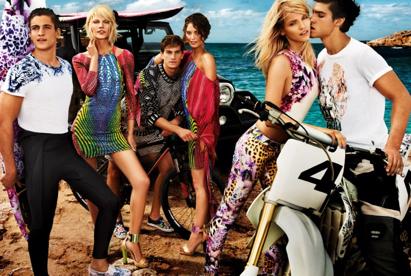 JustCavalliSpring9 Aline Weber, Ginta Lapina and Emily DiDonato Star in Just Cavalli Spring 2013 Campaign