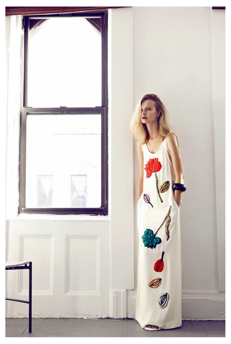 Kamila Filipcikova Poses for Elle Czech February 2013 by Branislav Simoncik