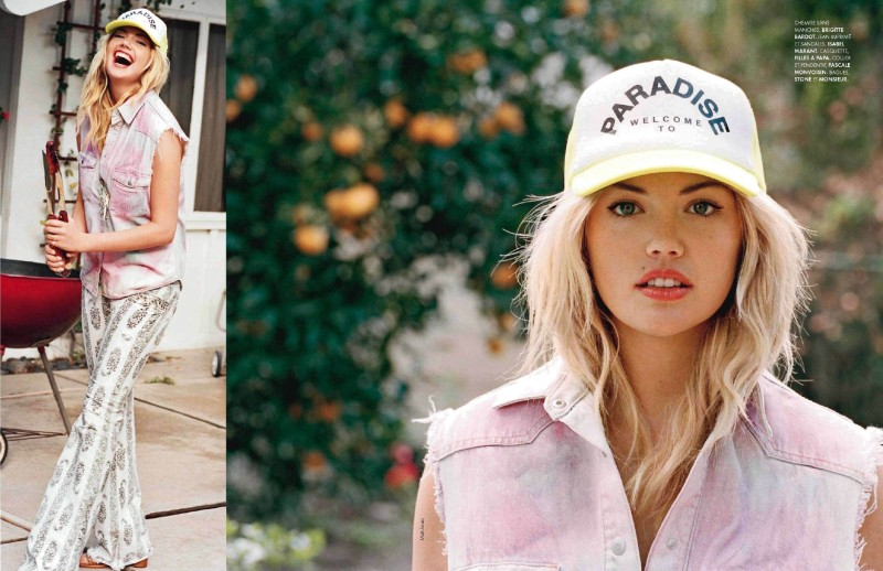 Kate Upton is A Casual Beauty for Elle France January 2013 Cover Shoot