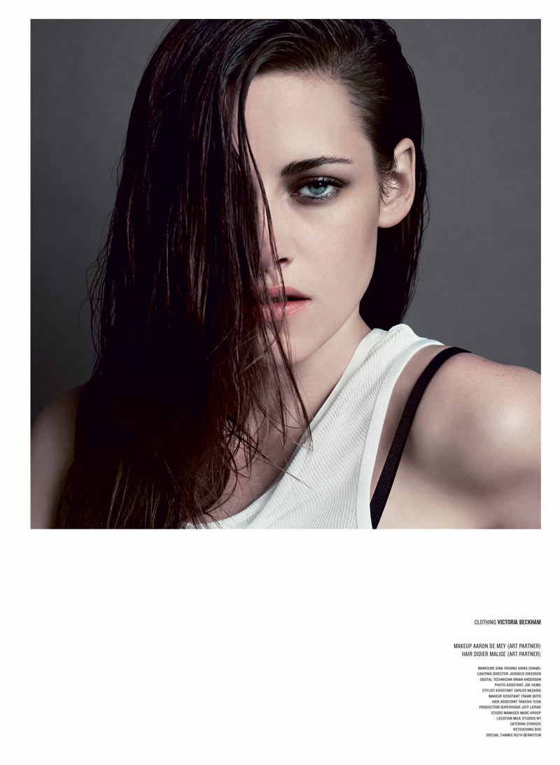 KristenStewartV7 Kristen Stewart Poses for Inez & Vinoodh in the Cover Shoot of V Magazine #81