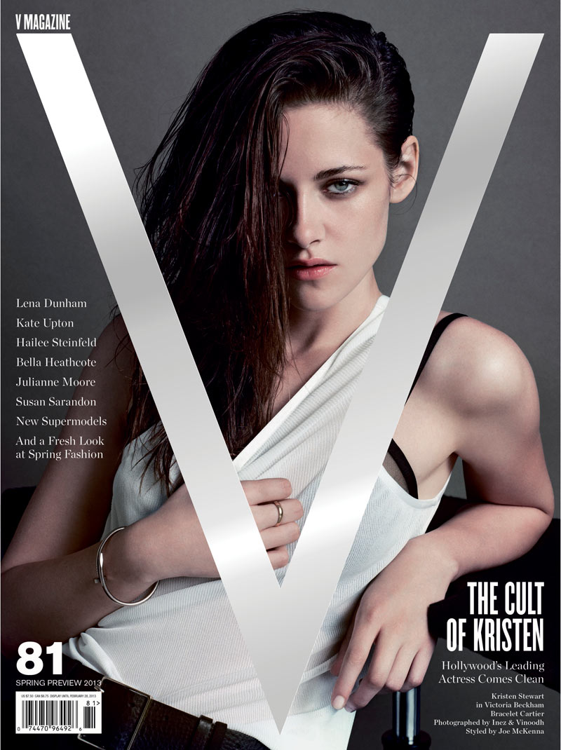 KristenStewartV8 Kristen Stewart Poses for Inez & Vinoodh in the Cover Shoot of V Magazine #81