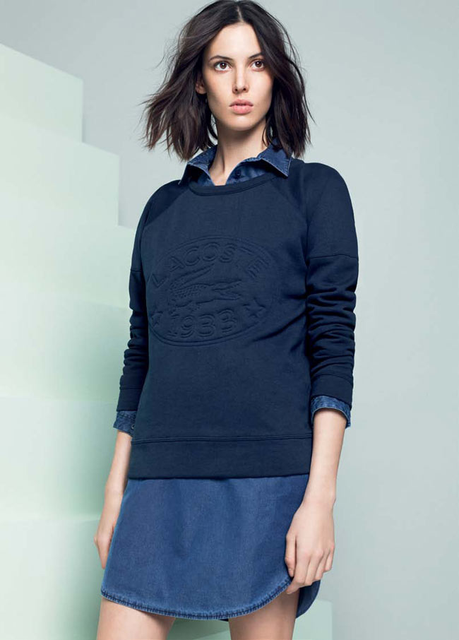 LACOSTE FW13 14 PRE FALL LOOK BOOK 8 Lacoste Taps Ruby Aldridge for its Pre Fall 2013 Collection