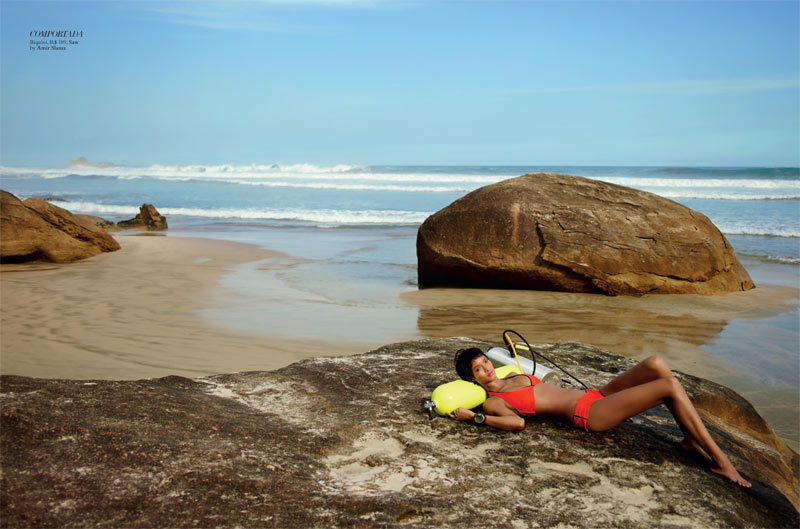 LaisBazaar5 Lais Ribeiro Sports Scuba Style for Harpers Bazaar Brazil January 2013
