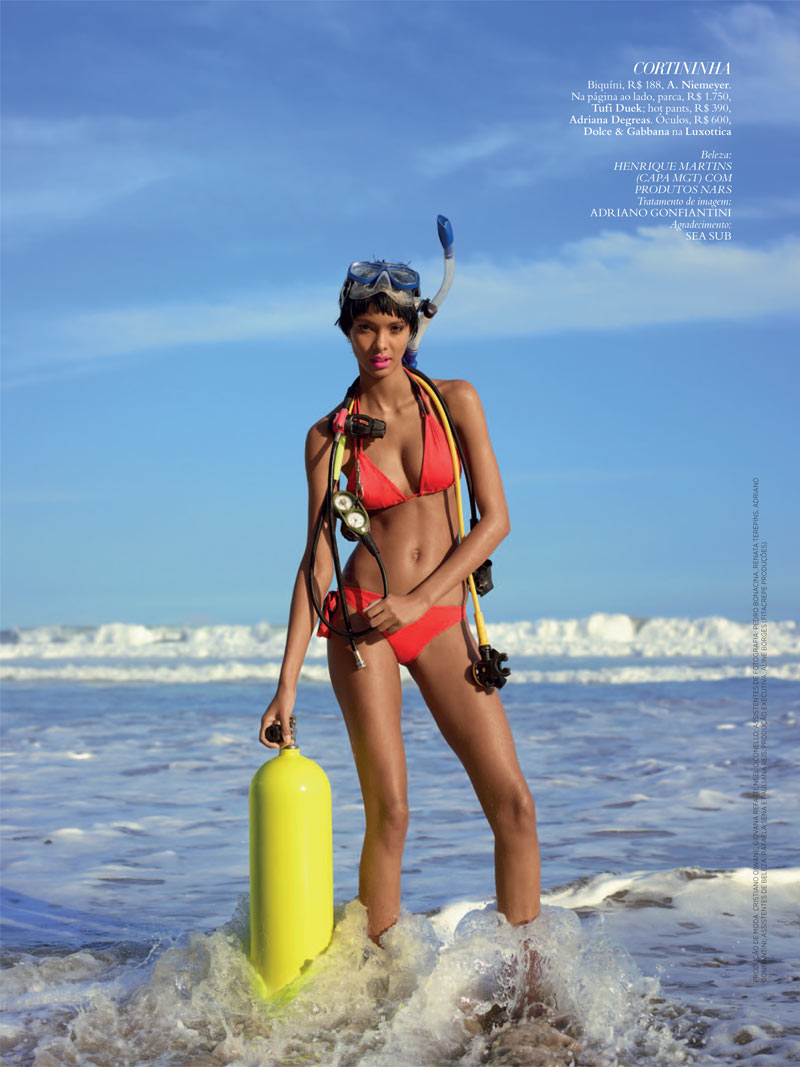 LaisBazaar6 Lais Ribeiro Sports Scuba Style for Harpers Bazaar Brazil January 2013