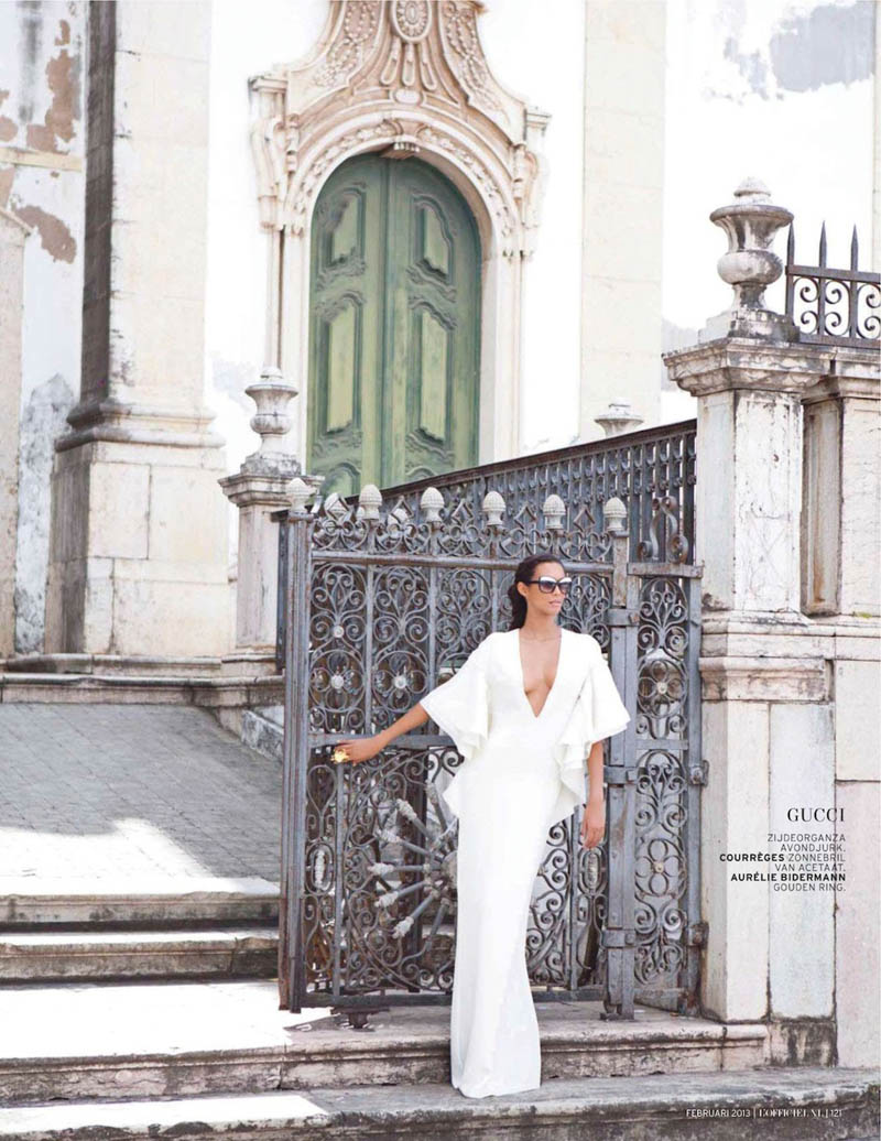 Lais Ribeiro Charms in Brazil for the February Issue of L'Officiel Netherlands