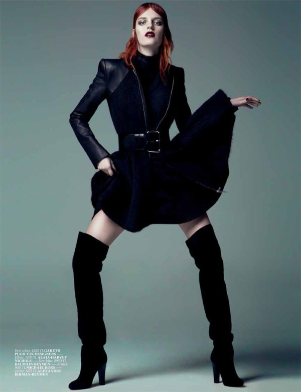 Laura Kampman Dons Cutting Edge Style for Vogue Turkey's January Issue